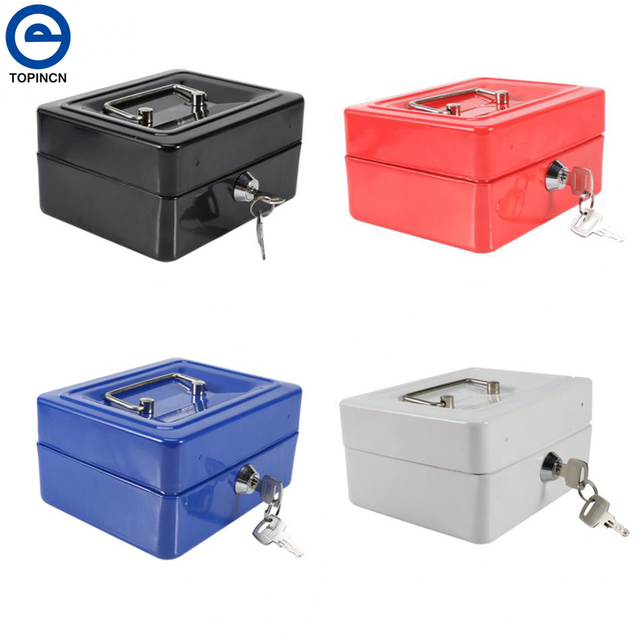 home organizador mini portable steel petty lock cash safe box for