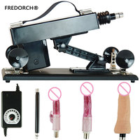 FREDORCH New Sex Machine Handsfree Pumping Gun with 4 Dildos Automatic Sex Machines for Man and Women Bedroom Sex Products