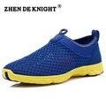 2016 Новый цвет Мужчины Лето Mesh Обувь Super Cool Мокасины Поскользнуться На Ходьбу Комфортной Воды Обувь Дышащий zapatos hombre