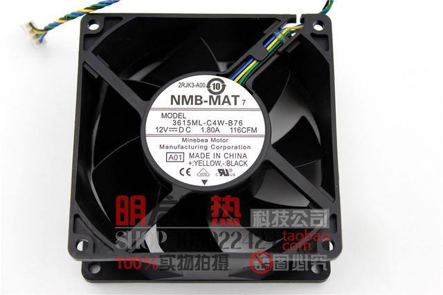 Genuine 3615ML-C4W-B76 12 V 1.80A 9 CM fã T610 GY676-MAT