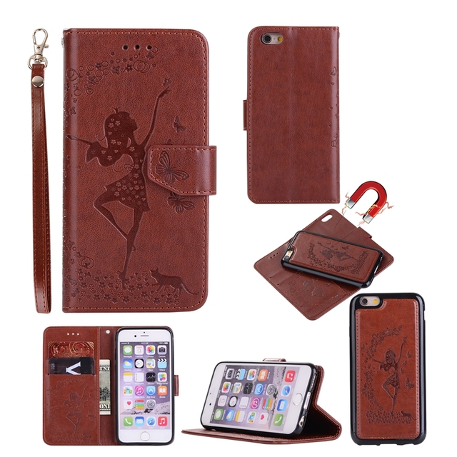 best website 2027d 86b59 US $15.37 |Case For iPhone 8 Plus Two Piece Style Multi function Flip  Wallet Leather Cover With Card Slots For iPhone X 8 7 6 6S Plus-in Wallet  Cases ...