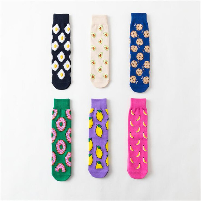 Kawaii Cute Bright Printed Socks