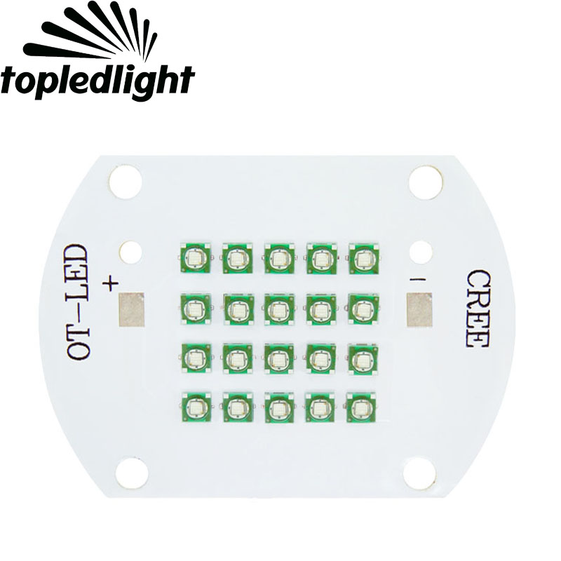 Customize Cree XLamp 60W XP-E Blue 475nm~480nm 704LM DC30-36V 1000-2000mA High Power LED Emitter Lamp Light Diy Aquarium Light