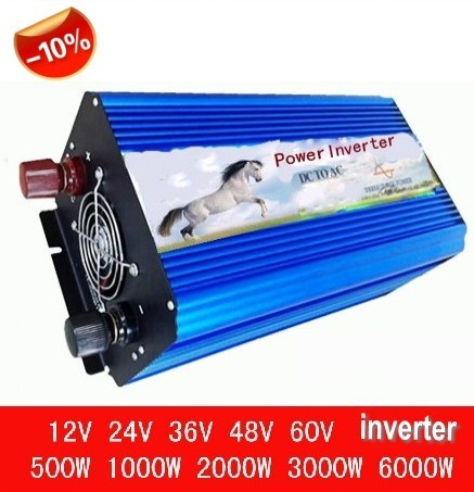 zuivere sinus converter 3000w inverter pure sine wave max 6000w power DC 12V 24V 48V to AC100V-240V for solar wind home use