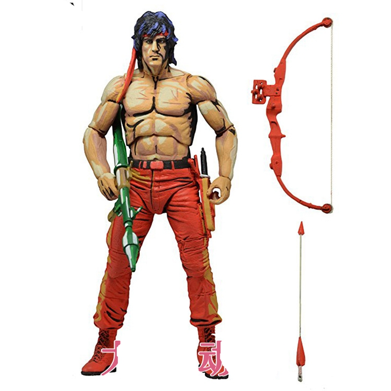 NECA Rambo Action Figure Toy Doll Collection Model Gift