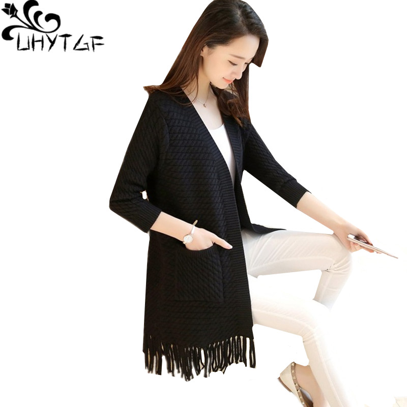 100% QualitäT Uhytgf Strickjacke Pullover Weibliche 2019 Neue Frühling Herbst Pullover Jacke Frauen Koreanische Mode Quaste Lange Pullover Mantel 204 Um Jeden Preis