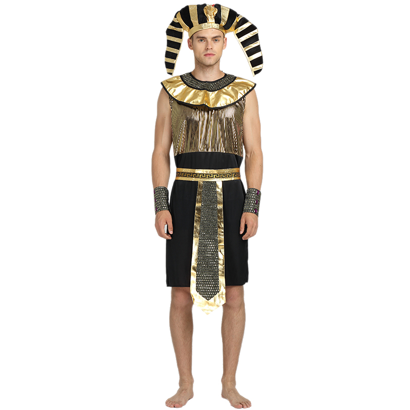 43fcb29ad7a84 Egypt Pharaoh Cosplay Costumes Men 2017 New Adult Jumpsuits Handsome Exotic  King Monster Ball Halloween Masquerade Party Royal On Aliexpress.com    Alibaba .