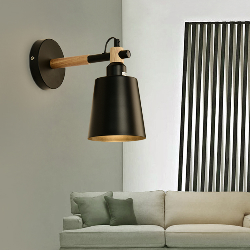 Nordic Wood Wall Lights Sconce Fixtures LED Wall Lamp Up Down for ...