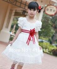 Ребенок принцесса свадьба цельный детская одежда вечернее платье