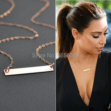 3pcs New simple Kim Kardashian metal sequins gold-color clavicle chain choker necklace for bijoux women Free shipping NK0007
