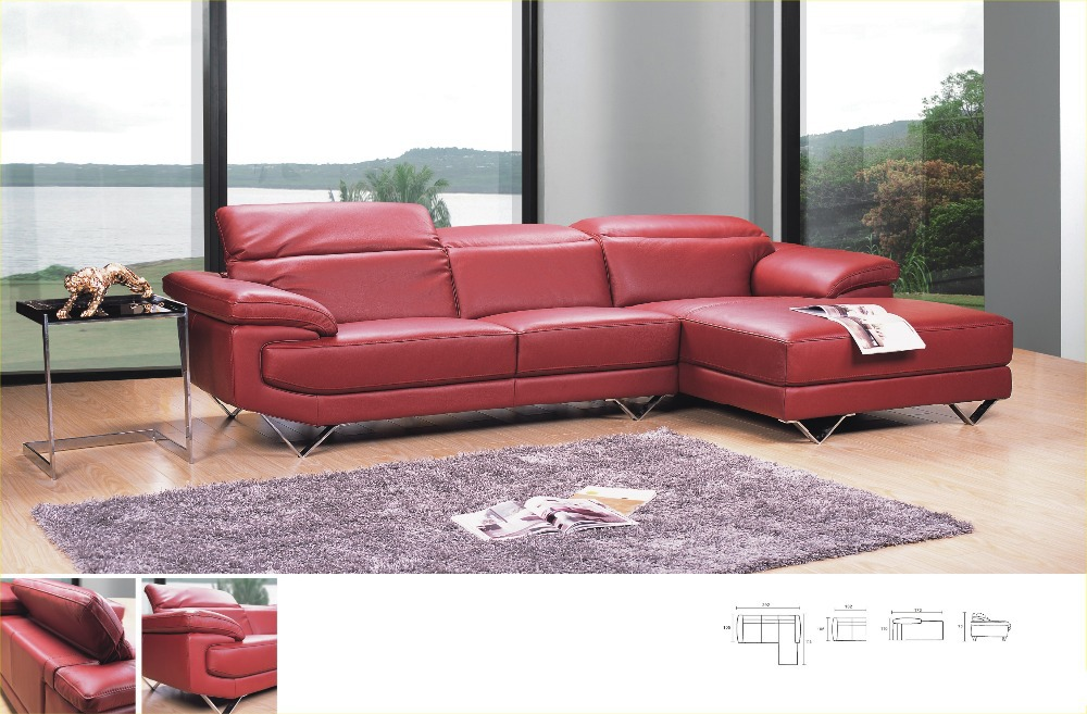 Modern style sectional sofa top real Genuine leather sofa living room sofa couch L shape corner sofa sectional furniture 8207 u best design corner sofa inspired by florence knoll left angle imitation leather or real leather modern living room sofa