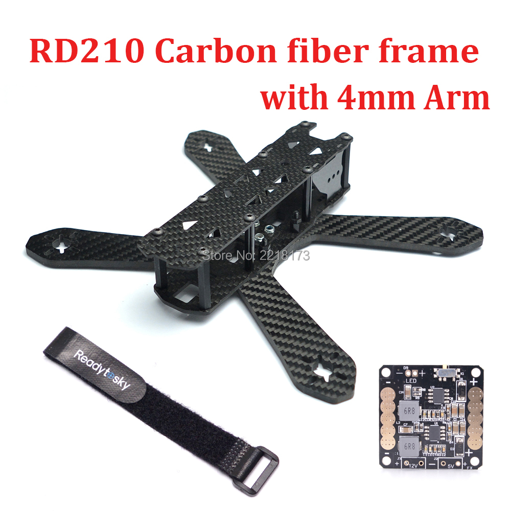 DIY Mini RD210 RD-210 210 210mm Drone FPV Cross Racing Carbon Fiber Frame with 4mm arms Better than QAV-R 210 Quadcopter yessun android car navigation gps for hyundai santa fe 2006 2012 audio video hd touch screen stereo multimedia player no cd dvd