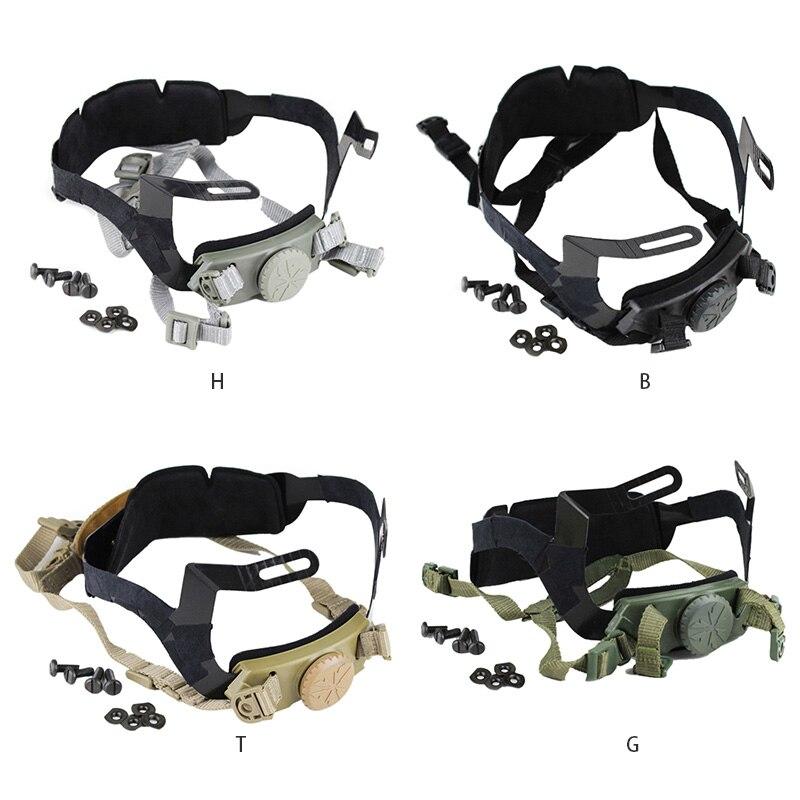 Táctica rápido casco correa ajustable caza juego casco interior de Sistema de Correa militar casco Airsoft Accesorios