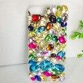 Tampa traseira para o iphone 7 plus 4S 5S 6 plus 6 s plus 7 rhinestone diamante colorido de plástico rígido tampa do telefone de proteção casos