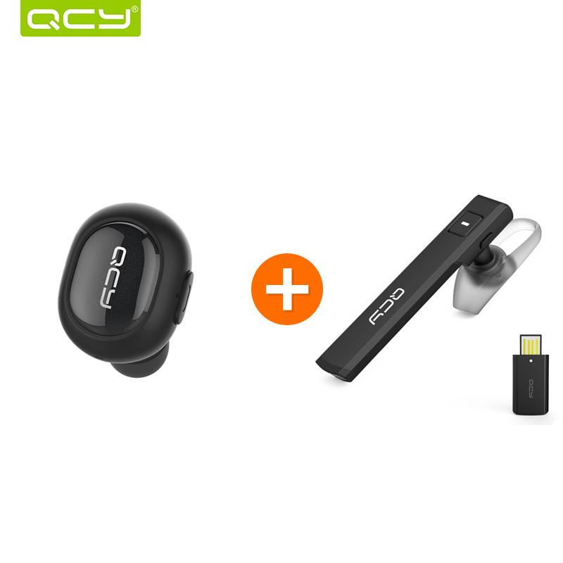 Prix pour QCY Q26 mini écouteur sans fil Invisible casque bluetooth 4.1 antibruit intra-auriculaires et J05 casque casque