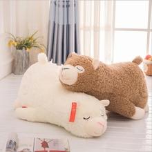 цена на Lovely Lying Alpaca Plush Toy Eiderdown Cotton Stuffed Sheep Doll Plush Pillow Children Birthday Gift