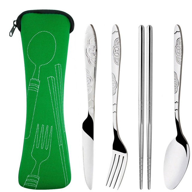 4 Pcs Stainless Steel Fork Spoon Set 1