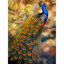 5d diy diamond painting cross stitch  embroidery mosaic pattern animal peacock picture stickers home decor