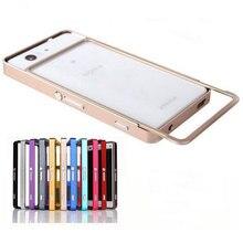 For Sony Xperia Z5 Mini Z5 Compact Case Slim Push Pull Metal Aluminum Bumper Frame For Sony Xperia Z Z4 Z 5 Premium Phone Cases