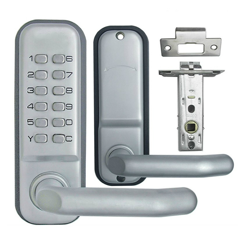 mechanical keypad password door lock entry keyless zinc alloy waterproof with digital machinery code for school