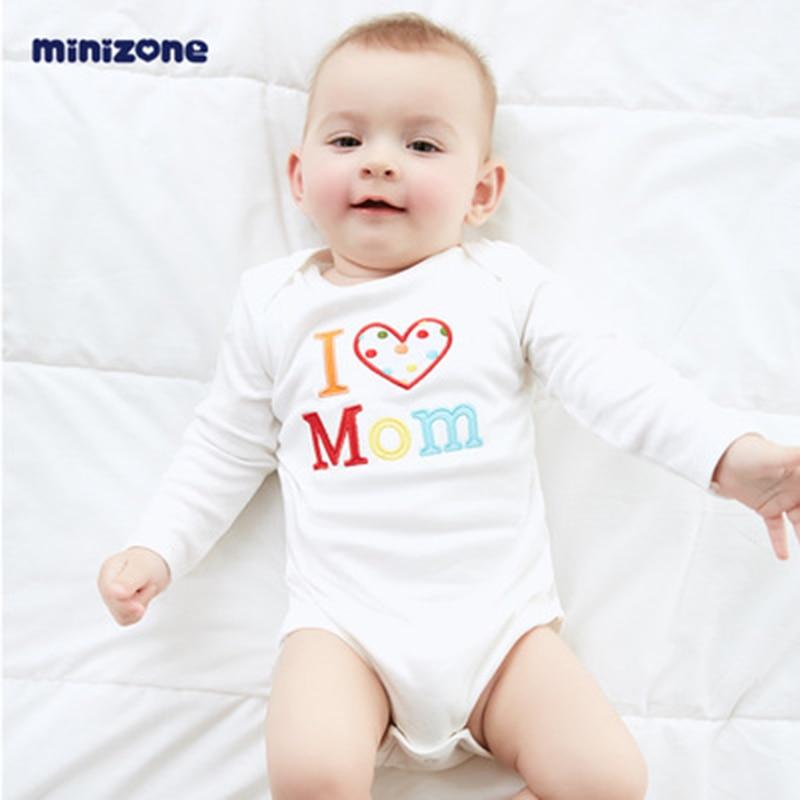 Boys Girls Sleepsuit Cartoon Rompers Minizone Baby Cotton Bodysuits Long Sleeve
