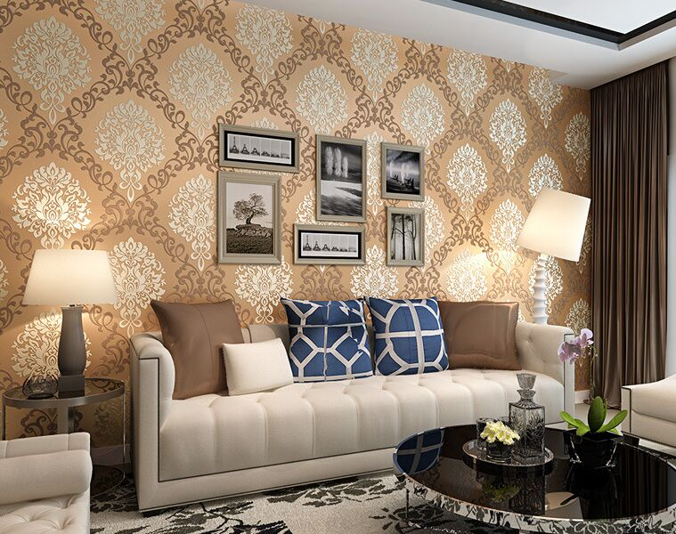 Non Woven Damask Wall paper Roll Modern Luxury Wallpapers 3D Wallpaper Floral for Living Room Walls papel de parede para sala beibehang embossed american pastoral flowers wallpaper roll floral non woven wall paper wallpaper for walls 3 d living room