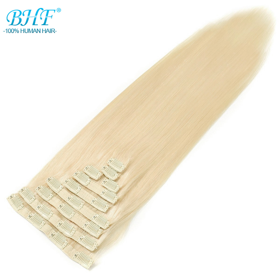 BHF Clip In Human Hair Extensions 20 160G 200G Machine Made Remy Full Head 100 Brazilian
