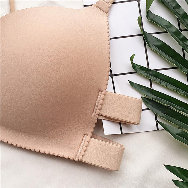 Sexy Solid Wireless Bra Breathable Chest Pad