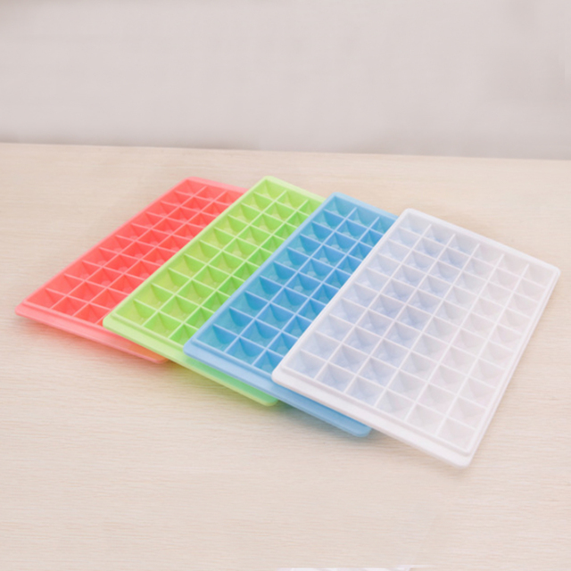 iTECHOR Creative 5pcs 60 Grid Diamond Ice Cube Mold Square Shape Ice Cube Tray Home Bar Kitchen Accessories – Color Random