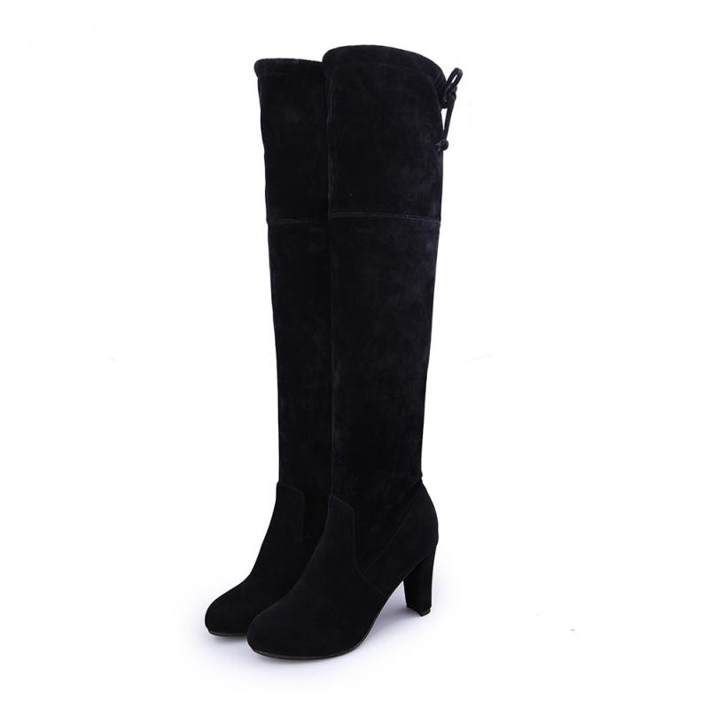 New Sexy Women Boots Faux Suede Slim Women Winter Boots Over The Knee Boots Winter Thigh High Boots Knee High Boots Plus Size in Over the Knee Boots from Shoes