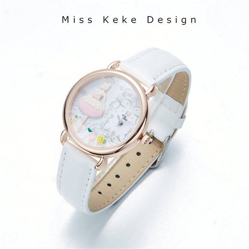 Spring New Arrival Clay Cute Lovely Pink Girl Watch Butterfly Flower Handmade Gift Trendy Original Design Watches Lady Fine 642 car auto light sensor automatic headlight sensor control for new ford focus 2012 kuga 2013 automatic turn on light