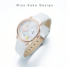 Spring New Arrival Clay Cute Lovely Pink Girl Watch Butterfly Flower Handmade Gift Trendy Original Design Watches Lady Fine 642