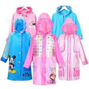 Dessin animé mignon enfants imperméable vêtements de pluie bébé imperméable en plein air costumes pour les enfants
