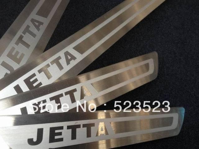 Free Ship  ForVW JETTA 6 MK6 2011 2012  Exterior Door Tread sill scuff plate Trim Stainless Steel 4pcs