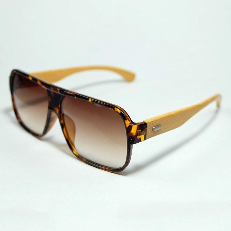 c6c9dc236 Novo Quadro Oblongo Presente Especial De Bambu Óculos De Sol Com Lentes de  Proteção UV400 Óculos Bolsa E Pano