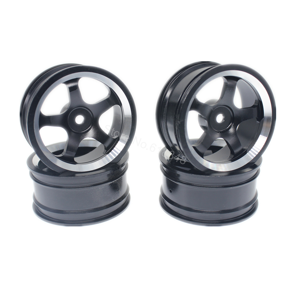 4pcs Aluminum Alloy Wheel Rims For RC 1:10 Drift On-Road Racing Car Touring Upgrade Parts HSP Redcat HPI Himoto aluminum 6 spoke wheel rim for 1 10 rc on road racing car