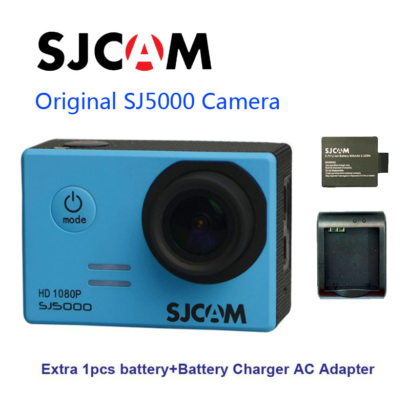 Free Shipping!! Original SJCAM SJ5000 Novatek 96655 Full HD Action Sport Camera +Extra 1pcs battery+Battery Charger free shipping original sjcam sj5000 sport action camerar car charger holder monopod extra 1pcs battery battery charge for camera