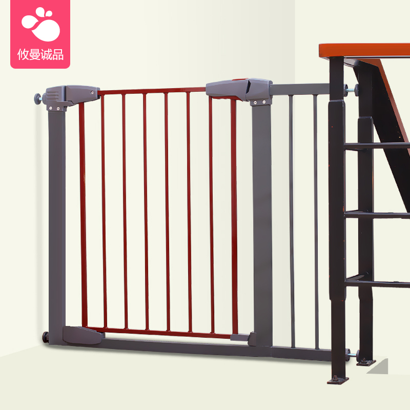 Kingbo Solid wood red color yellow color white color baby safety gate pet isolation fence 75-82cm width ...