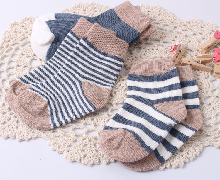 Baby Socks Cotton Anti Slip Rubber Slippers Kids Socks For Girs Boys