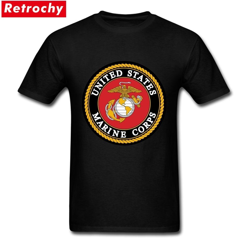 Marine corps t shirts men usa brand air force usmc tee men for Designer t shirts brands
