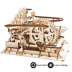 Image 3 - Robotime DIY 3D עץ מכאני פאזל דגם בניין ערכות לייזר חיתוך פעולה על ידי שעון מתנת צעצועים לילדים LG/LK/AM