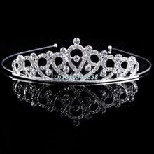Bridal Wedding Hair Accessories Crystal Rhinestone Crown Headband Stunning Crystal Tiara Wedding Crown Children Tiaras Headband