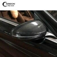 For Mercedes W205 E W213 C238 S W222 C217 GLC X253 Carbon Fiber Side Mirror Cover Caps