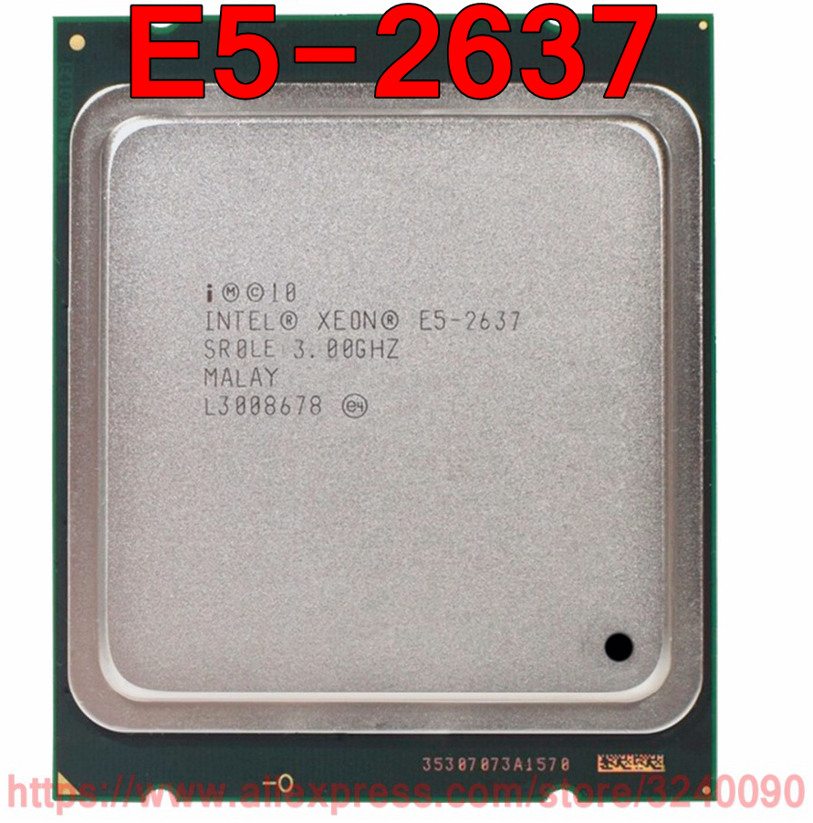 Intel Xeon CPU E5 2637 SR0LE 3.00GHz 2 Core 5M LGA2011 E5 ...
