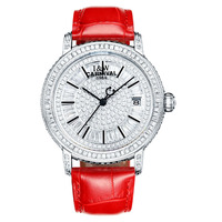 Carnival Women Automatic Watch 100M Waterproof Mechanical Wristwatches Ladies Genuine Leather Strap Diamond Watches kol saati