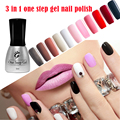 5pcs/set  New 3 in 1 UV Nail Gel Fashion One Step LED Gel Polish 5ML Soak Off Nail Gel Varnish---No Need Base and Top Coat