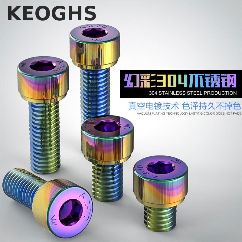 Keoghs Motorbike Screws M5 5mm Colorful Stainless Steel 304 For Motorcycle Honda Yamaha Kawasaki Suzuki Dirt Bike Scooter dwcx motorcycle adjustable chain tensioner bolt on roller motocross for harley honda dirt street bike atv banshee suzuki chopper