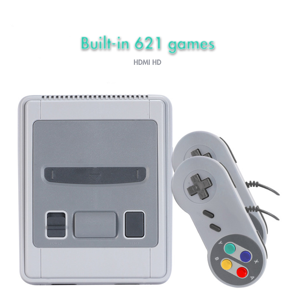 Image 2 - Super Mini HDMI Family TV 8 Bit SNES Video Game Console Retro Classic HDMI HD Output TV Handheld Game Player Built in 621 Games-in Video Game Consoles from Consumer Electronics