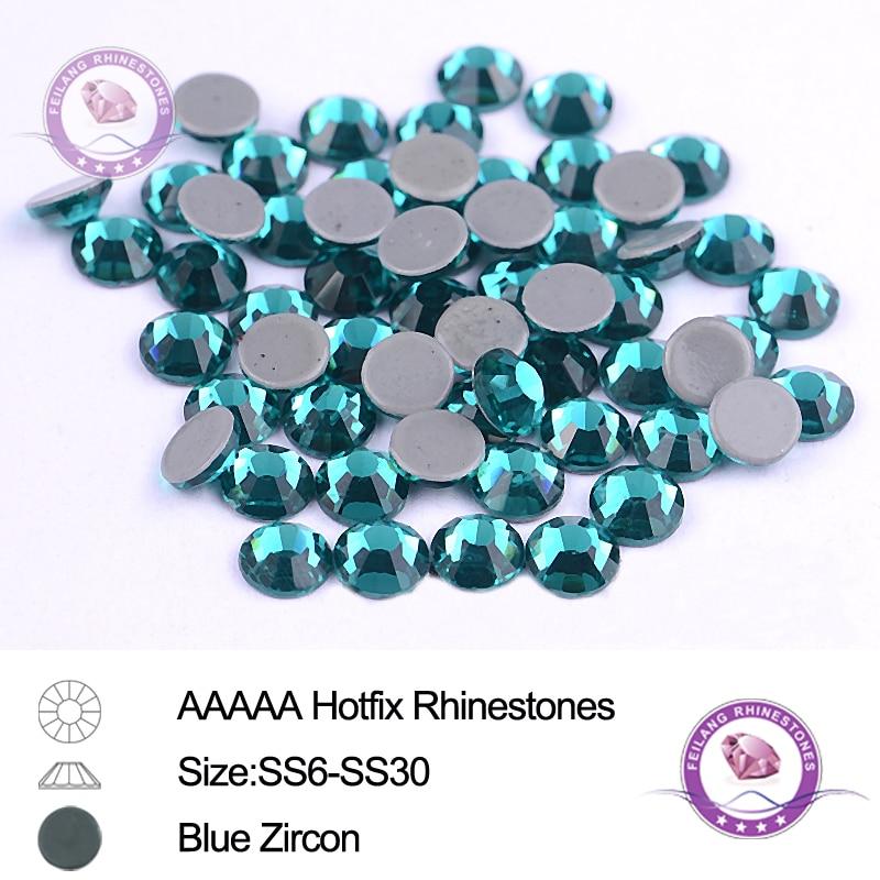 144 Hot Fix Iron On Rhinestone Round Jewel *FREE USA SHIP*SS16 4mm-Sapphire Blue