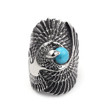 Beautiful Viking Raven Rings Talisman Eagle Bird Ring For Women Men High Quality Viking Jewelry Drop Ship(China)
